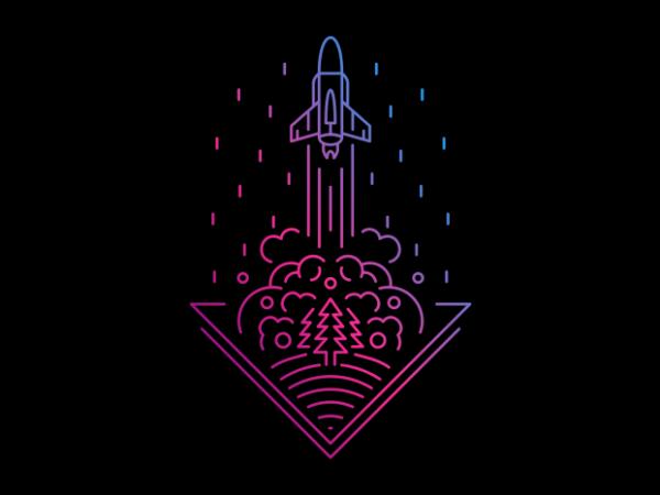 Smoky Rocket buy t shirt design artwork