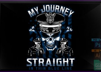 Straight Blue line vector t shirt design artwork