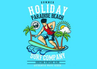 Summer Holiday Vector t-shirt design