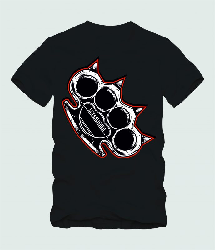 KNUCKLE RED t shirt designs for sale