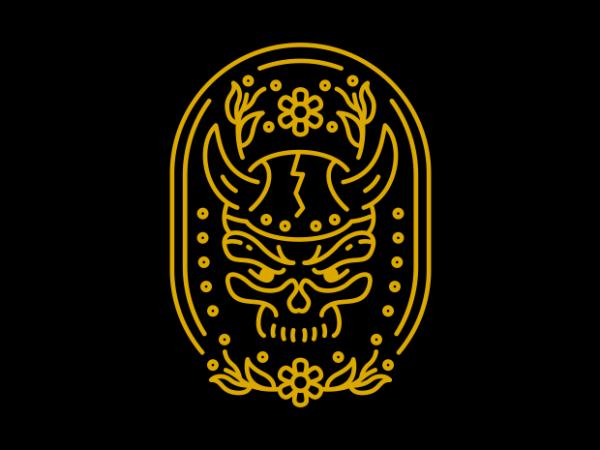 Viking Skull vector t shirt design artwork