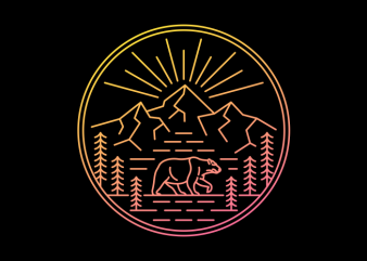 Wilderness Bear buy t shirt design artwork