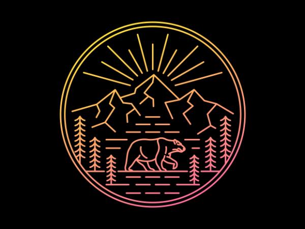 Wilderness Bear buy t shirt design artwork