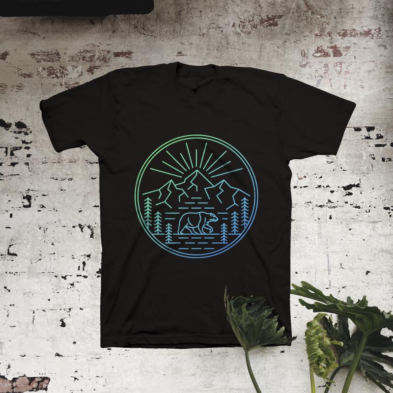 Wilderness Bear vector t shirt design
