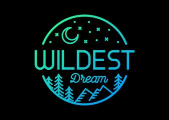 Wildest Dream t shirt design png