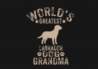 World Greatest Labrador Dog t shirt design for sale