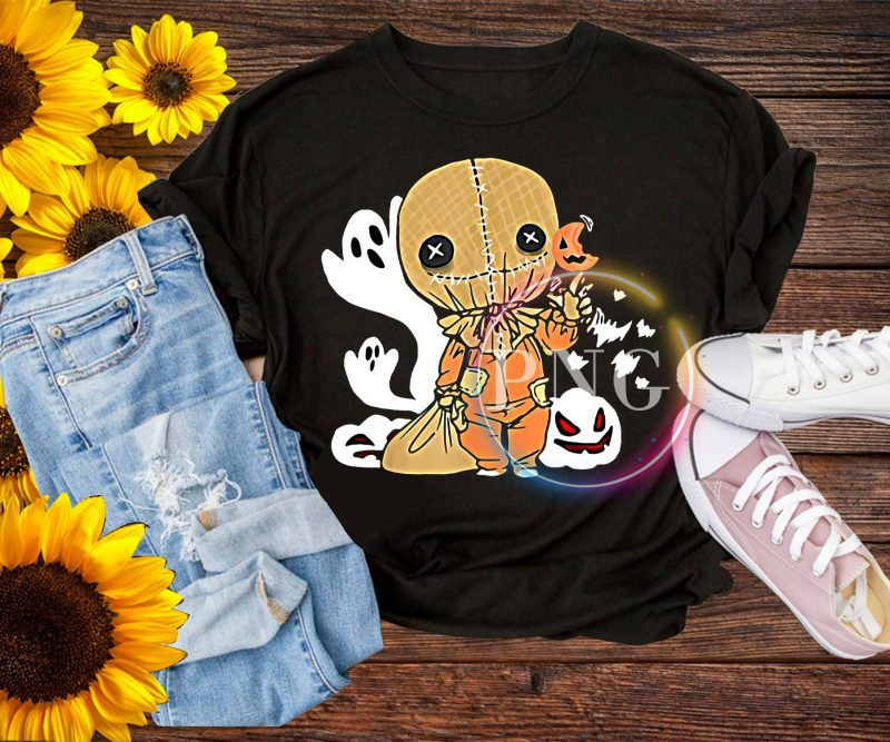 Trick r Treat Funny Cute Sam Halloween – scarecrow Halloween 2019 Costume T-Shirt t-shirt designs for merch by amazon