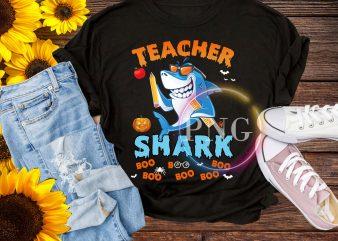 Teacher Shark Boo Boo Boo T shirt – Halloween shark