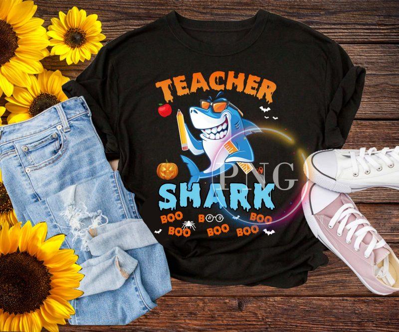 Teacher Shark Boo Boo Boo T shirt – Halloween shark tshirt design for sale