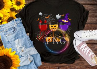 Halloween Glasses Cosplay Costume Pumpkin Witch Devil graphic t shirt