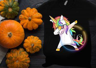 Unicorn Dabbing Cool back to Kindergarten School design T shirt