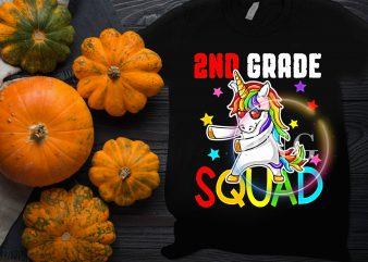 2nd Grade Unicorn Squad Design T shirt