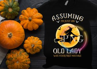 Assuming I'm just an Old Lady Witch was your first mistake T shirt design