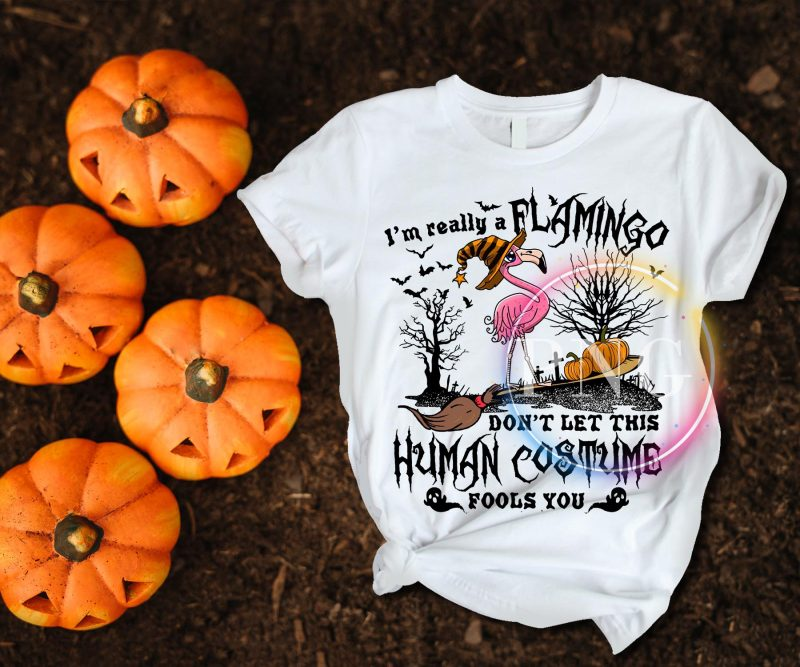 I'm really a Flamingo Don't let this Human Costume Fools you Tshirt Halloween buy tshirt design