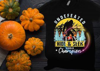 Bigfoot Undefeated Hide and Seek World Champion Halloween vintage T shirt