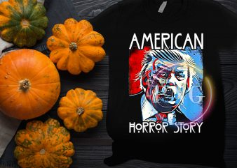 American Trump Horror Story Halloween Costume T shirt design