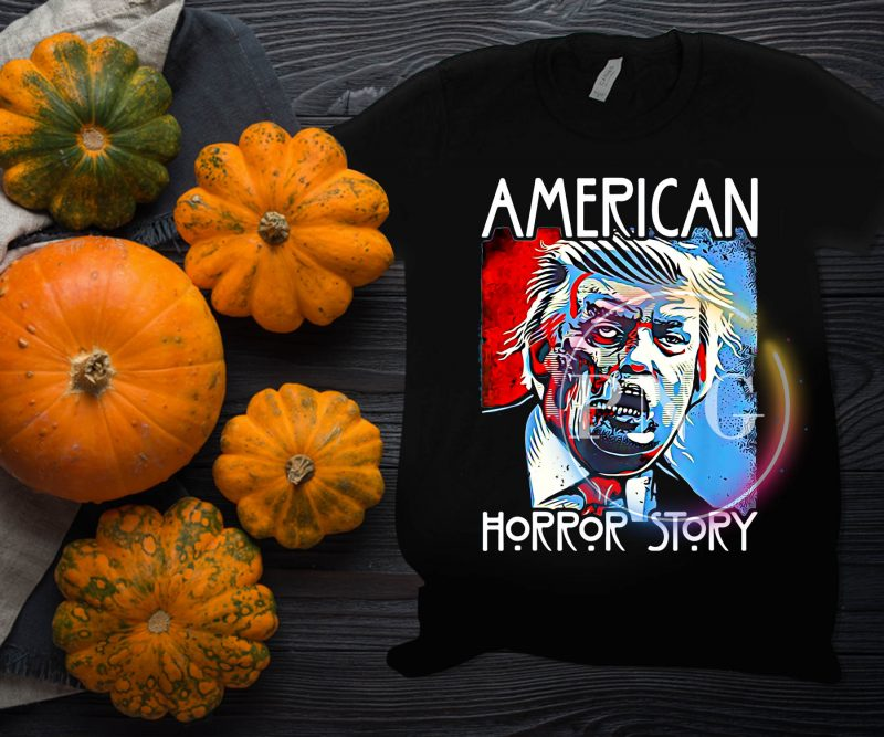 American Trump Horror Story Halloween Costume T shirt design tshirt design for merch by amazon