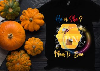 Mom to bee he or she Design Pregnancy mom PNG T shirt Design