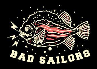 bad fish tshirt design