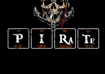 Pirate png – Chemistry Pirate buy t shirt design for commercial use