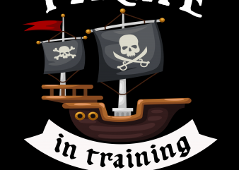 Pirate png – Pirate in training buy t shirt design for commercial use