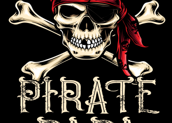 Pirate png – Pirate papa commercial use t-shirt design