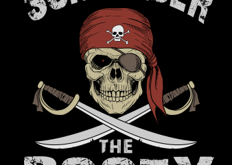 Pirate png – Surrender the booty t shirt illustration