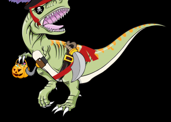 Pirate png – Pirate Dinosaur Pumpkin t shirt design template