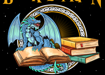 Reading png file – I am a book dragon t shirt design template