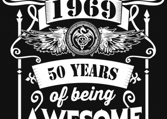 Birthday Tshirt Design – Age Month and Birth Year – September 1969 50 Years Awesome