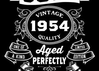 Birthday Tshirt Design – Age Month and Birth Year – July 1954 65 Years
