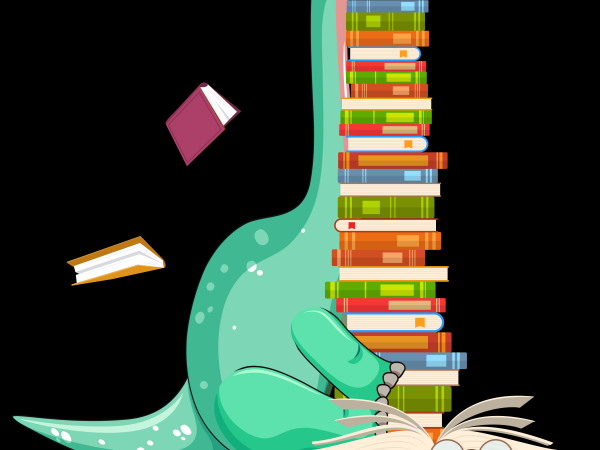 Reading Png File Dinosaur Reading Book T Shirt Design Online