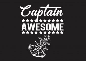 Captain Awesome buy t shirt design artwork