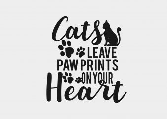 Cats Leave Paw Print buy t shirt design