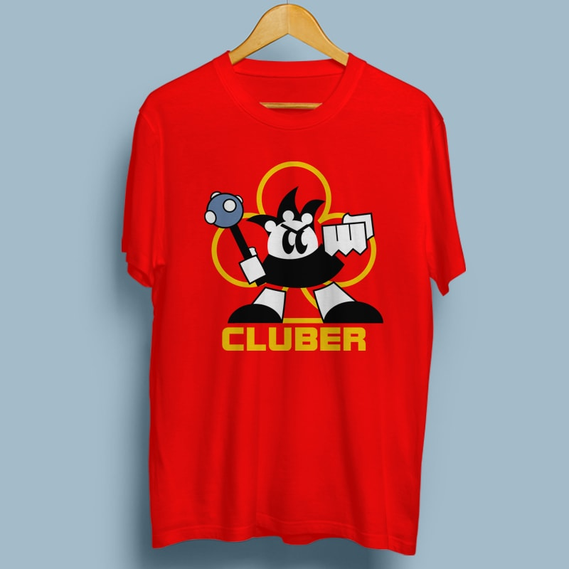 CLUBER tshirt designs for merch by amazon