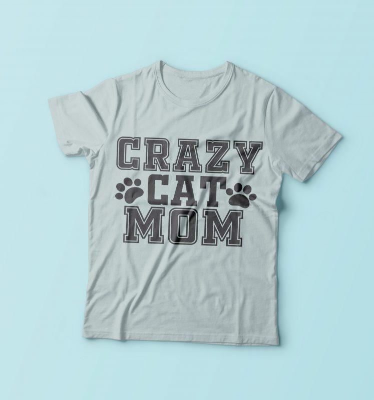 Crazy Cat Mom buy t shirt design