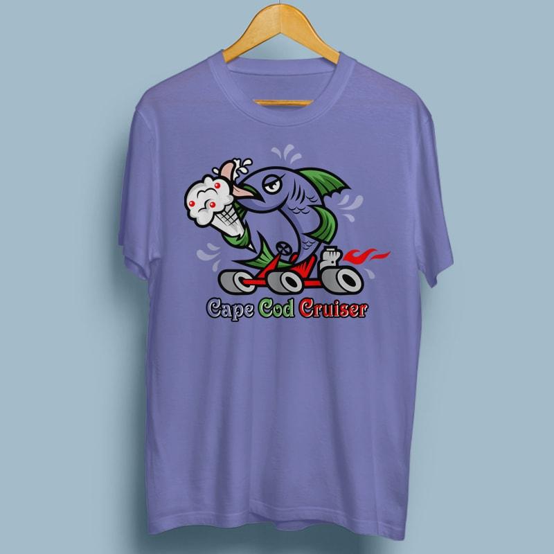 CRUISER tshirt designs for merch by amazon