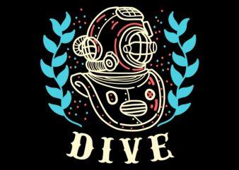 dive tshirt design