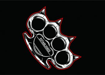 KNUCKLE RED buy t shirt design artwork