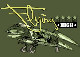 FLYING HIGH t shirt design to buy