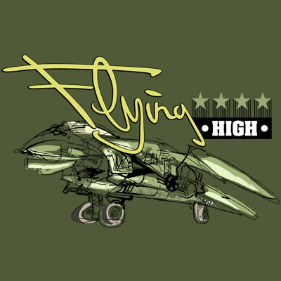 FLYING HIGH t shirt design to buy