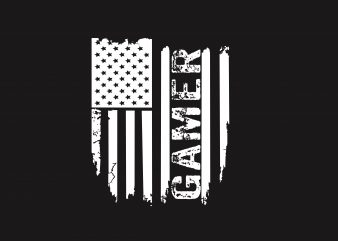 Gamer Flag t shirt design template