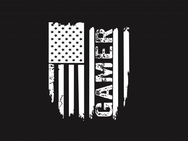 Gamer Flag graphic t-shirt design