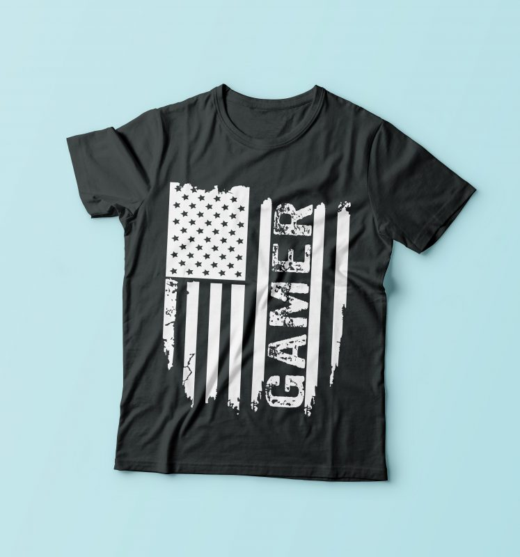 Gamer Flag t-shirt designs for merch by amazon