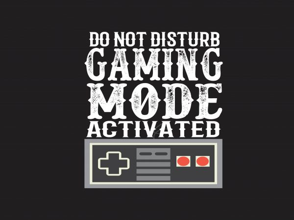 Do Not Disturb commercial use t-shirt design