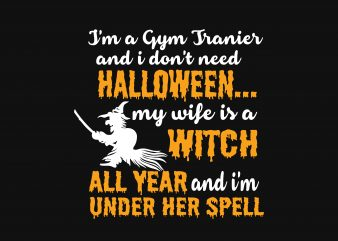 Halloween Witch t shirt design for sale