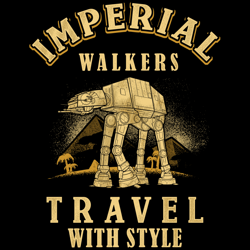 Imperial Walker t-shirt designs for merch by amazon