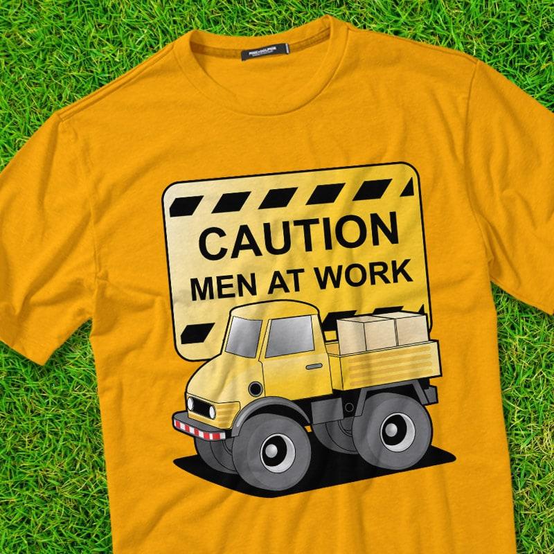 MAN AT WORK t shirt designs for merch teespring and printful