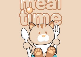 MEAL TIME print ready shirt design