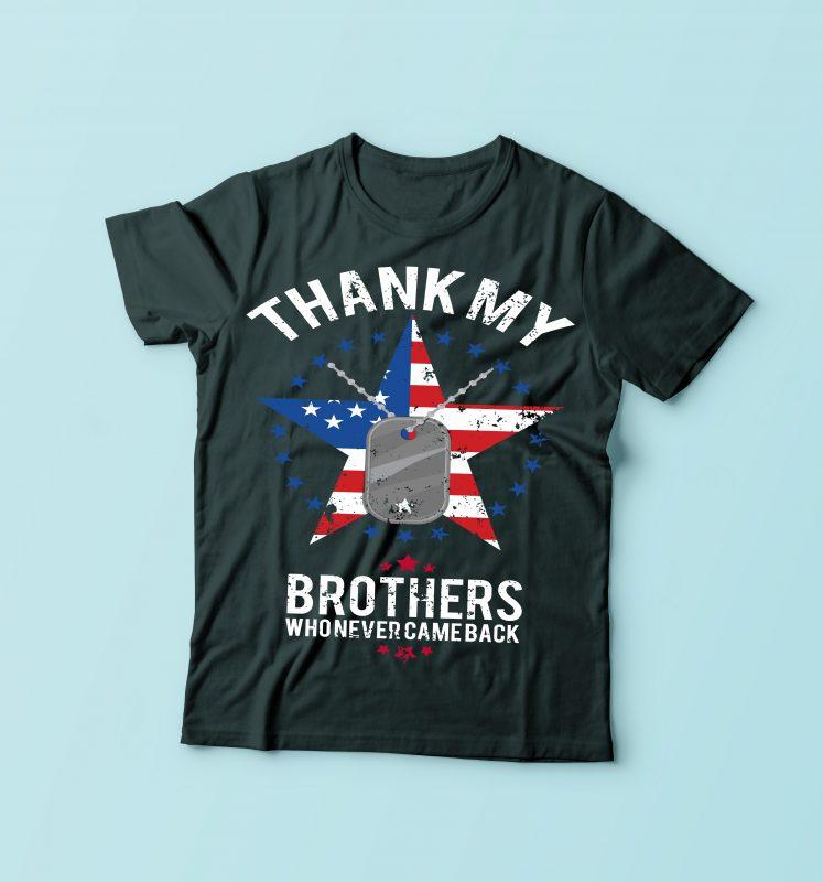 Thank My Brothers buy tshirt design
